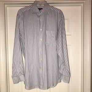 Burberry Striped Button Down Long Sleeved Shirt